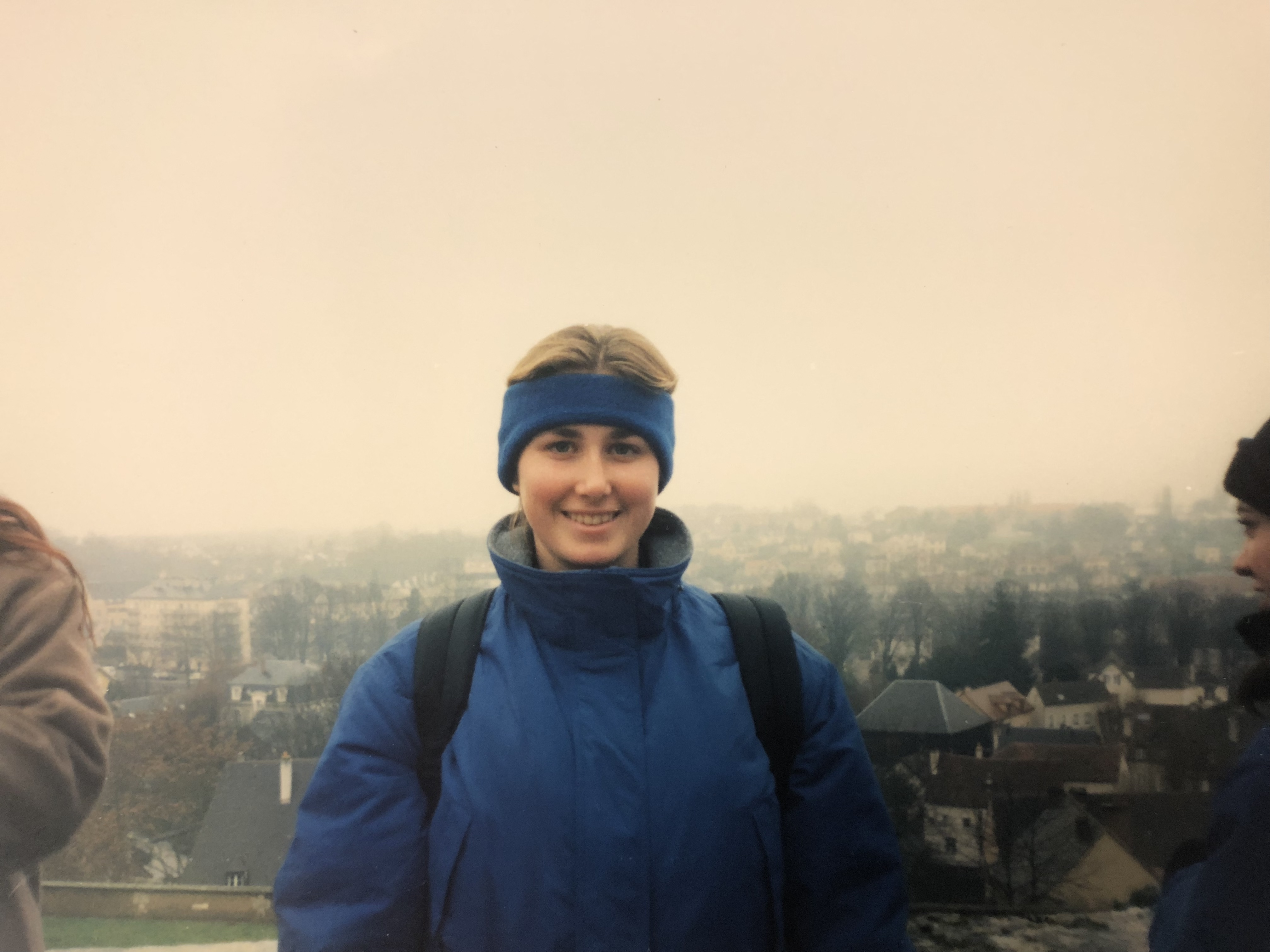 Skye, in high school, on a study abroad trip to France.