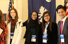 CEW exchange students on Capitol Hill
