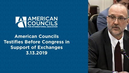David Patton testifies before Congress on behalf of exchanges